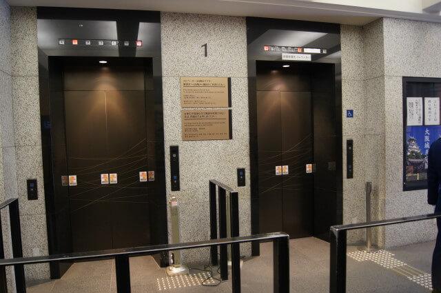 大阪城のエレベーター