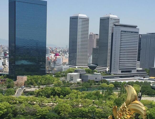 大阪城からの景色