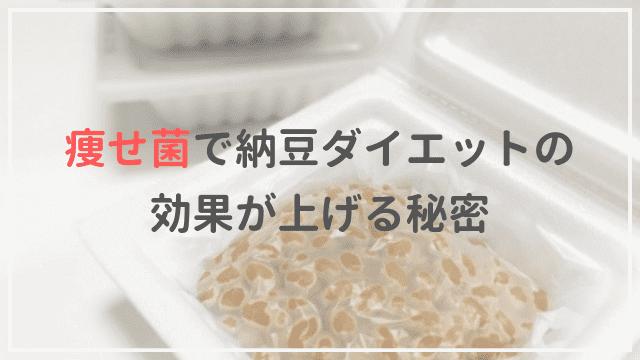 痩せ菌 納豆