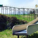 ローラー滑り台のある公園